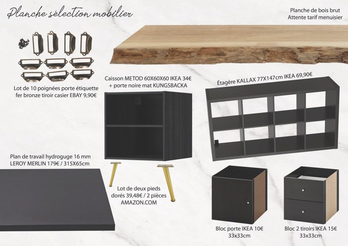 Idées aménagement bureau - Planche mobilier mademoiselle-e x bai_b_architecteinterieur