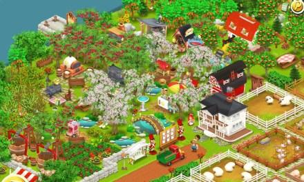 Le jeu HayDay sur iPad