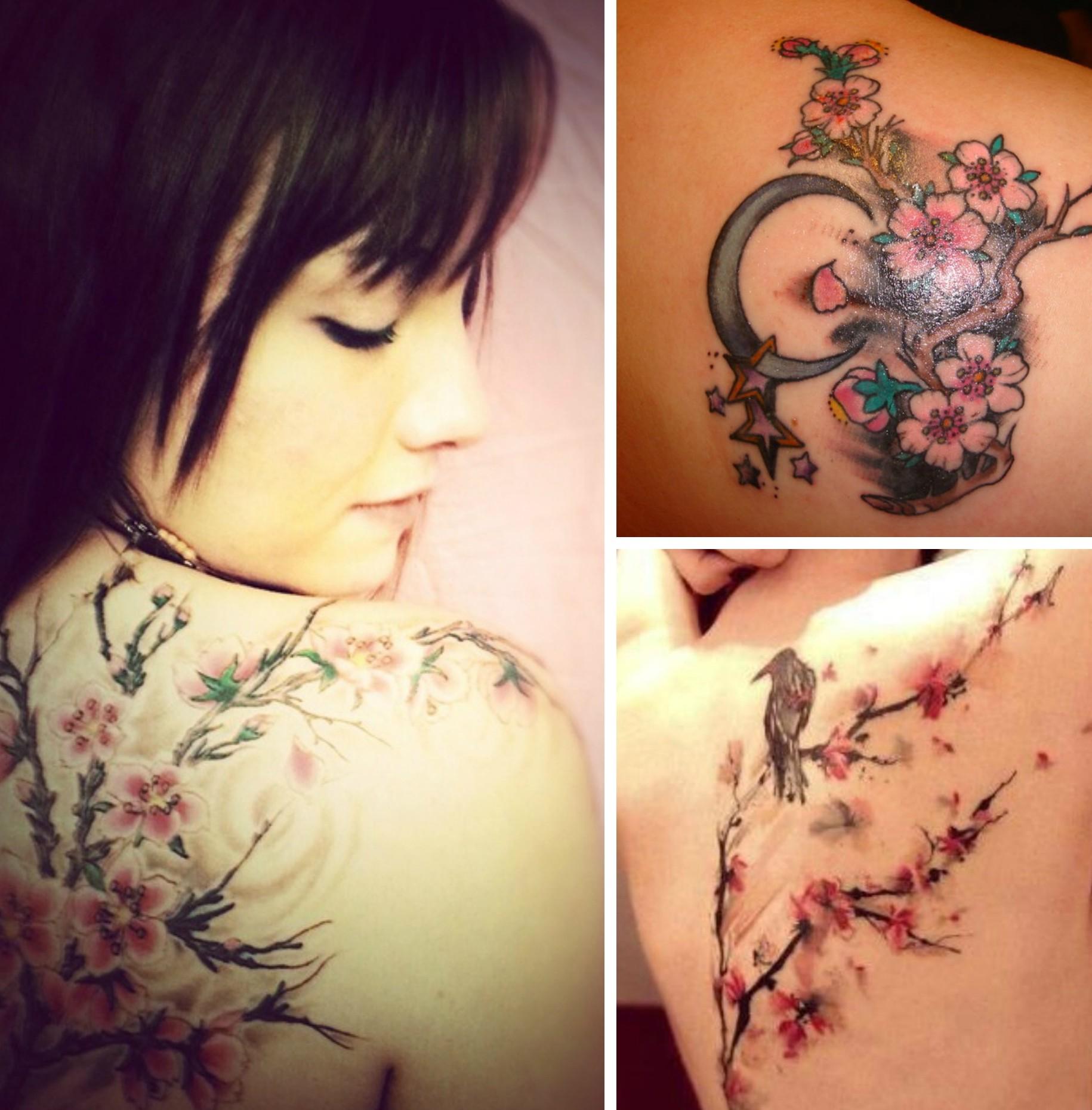 Tatouages301 tatouage branche de cerisier - Signification emplacement tatouage ...