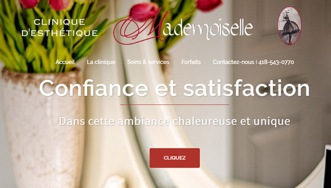 Écran site Mademoiselle