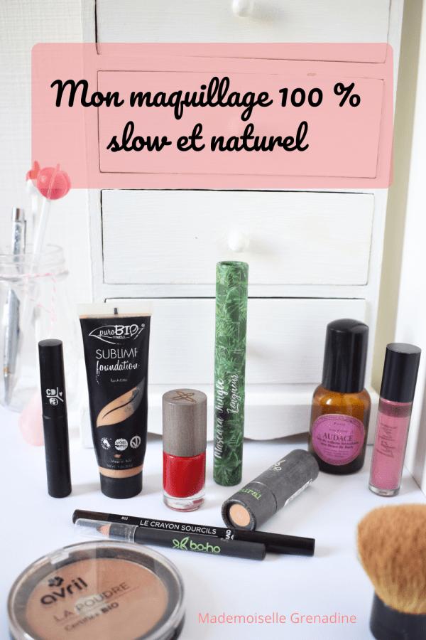 maquillage bio naturel et slow