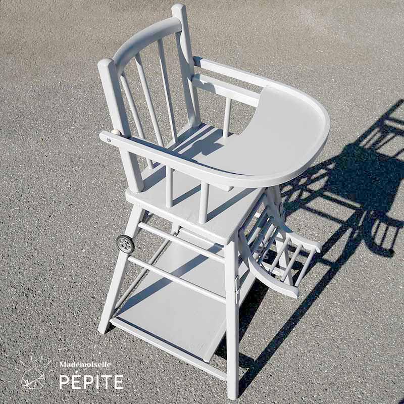 chaise haute pour bebe en bois