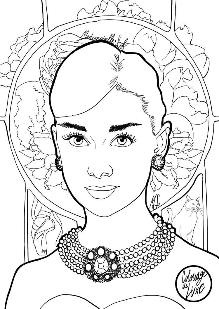 coloriage-mademoiselle-stef-audrey-hepburn-low