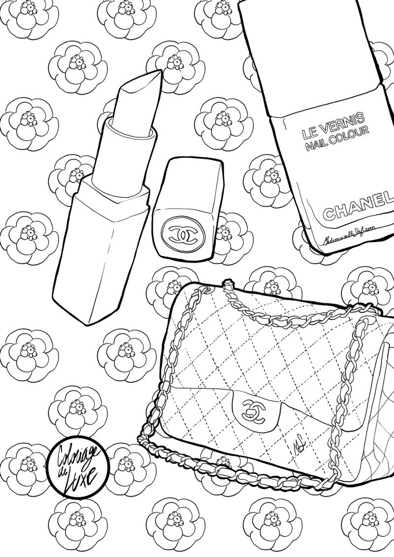 Coloriage : Sac Chanel I Mademoiselle Stef