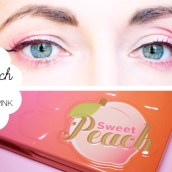 tuto makeup sweet peach palette too faced