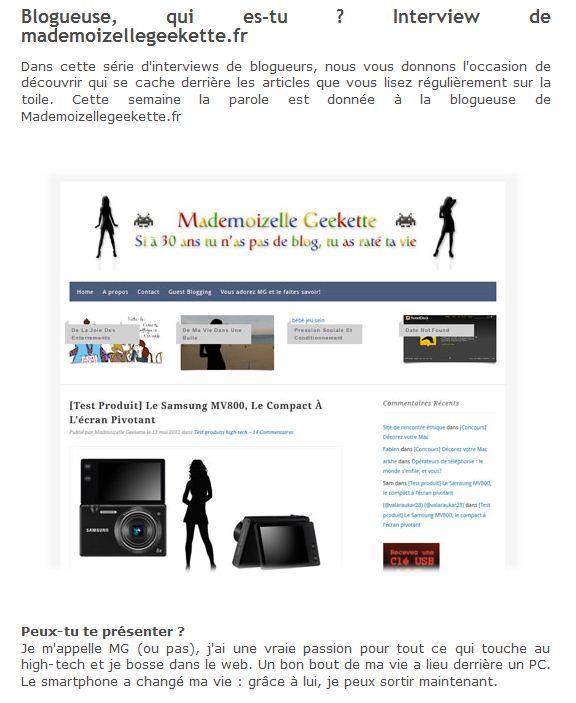 Blog MG LDLC