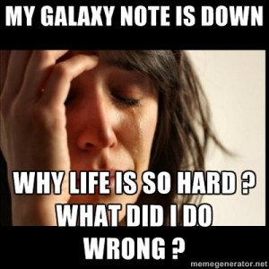galaxy note down wrong