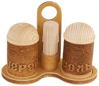 Salt & Pepper Shakers & Toothpick Holder