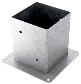 Base de pilar para fabricar porches y pérgolas