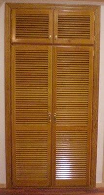 armario y vestidores de madera