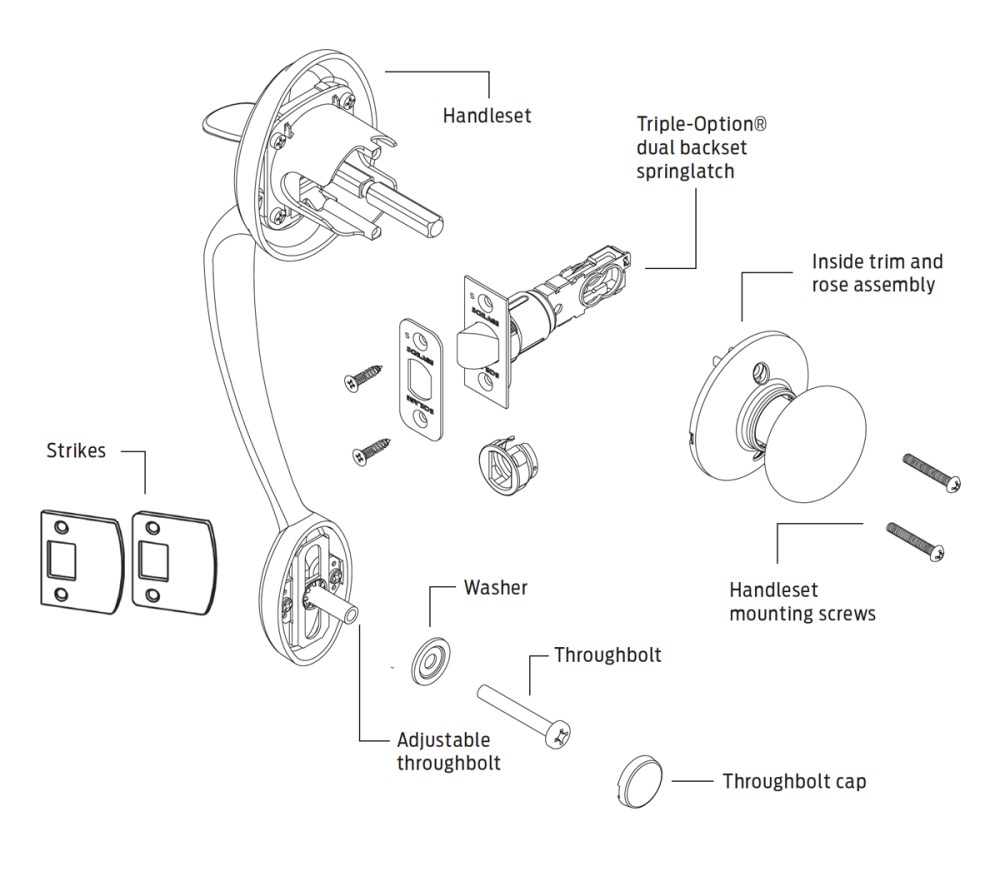 medium resolution of schlage parts diagram wiring diagram log kwikset door lock parts diagram on schlage deadbolt parts diagram
