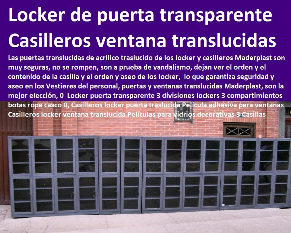 LOCKERS Y CASILLEROS PLASTICOS