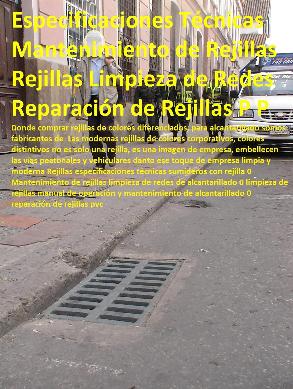 15 REJILLAS DE ALCANTARILLADO REJILLA SUMIDEROS