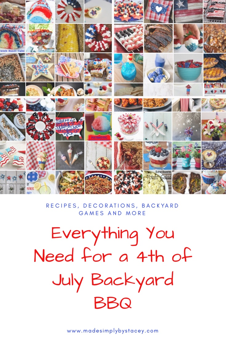 4th of July Backyard BBQ Recipes, Decorations, and More
