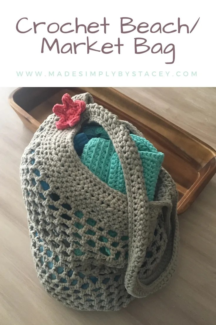 Crochet Beach Bag; Market Bag Pattern