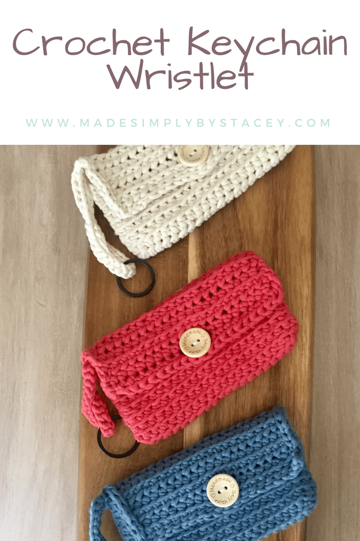Crochet Keychain Wristlet Free Pattern Made Simply By Stacey