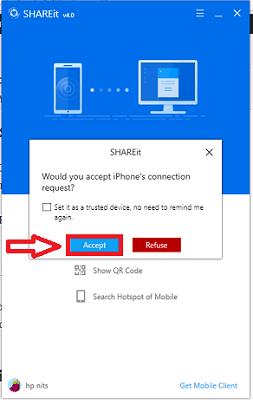 accept shareit