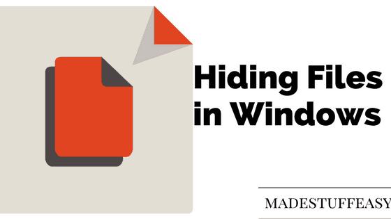 create hidden folder windows