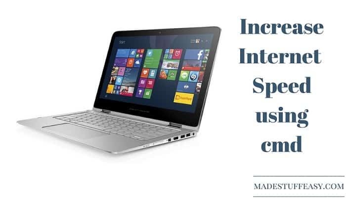 increase internet speed using cmd