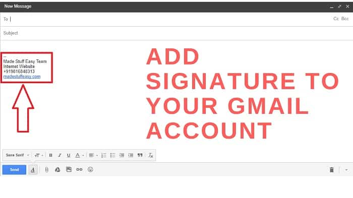 create gmail signature