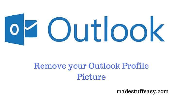 remove outlook profile picture