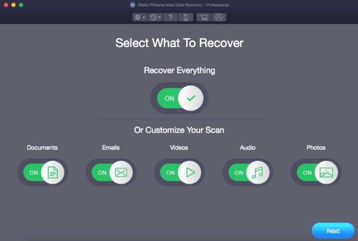 select folder recover