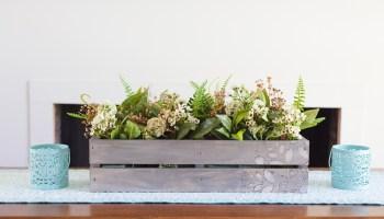 Woodburn Grey Wash Flower Crate