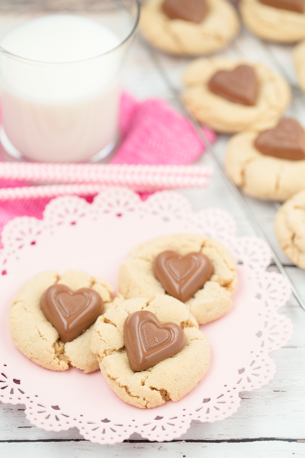 Sweetheart Peanut Butter Cookies | Cookies | Valentines Day | Baking