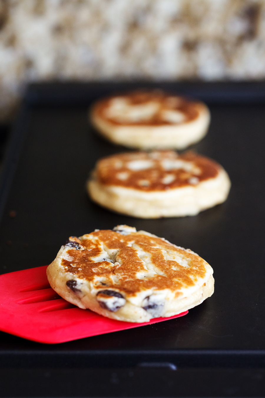 Welsh Cookies cooked on griddle