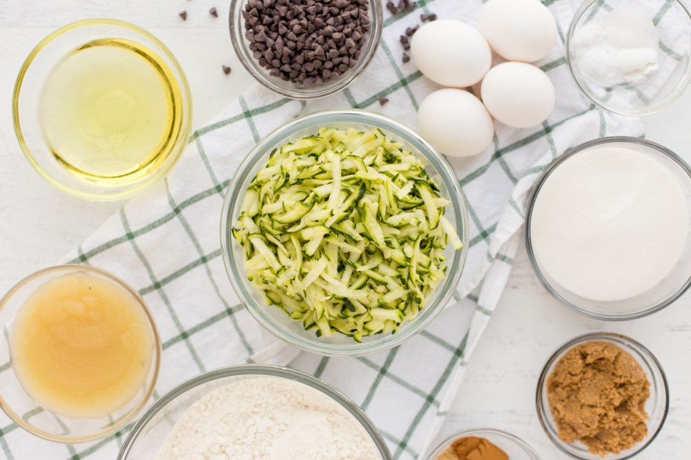 Chocolate Chip Zucchini Bread Ingredients