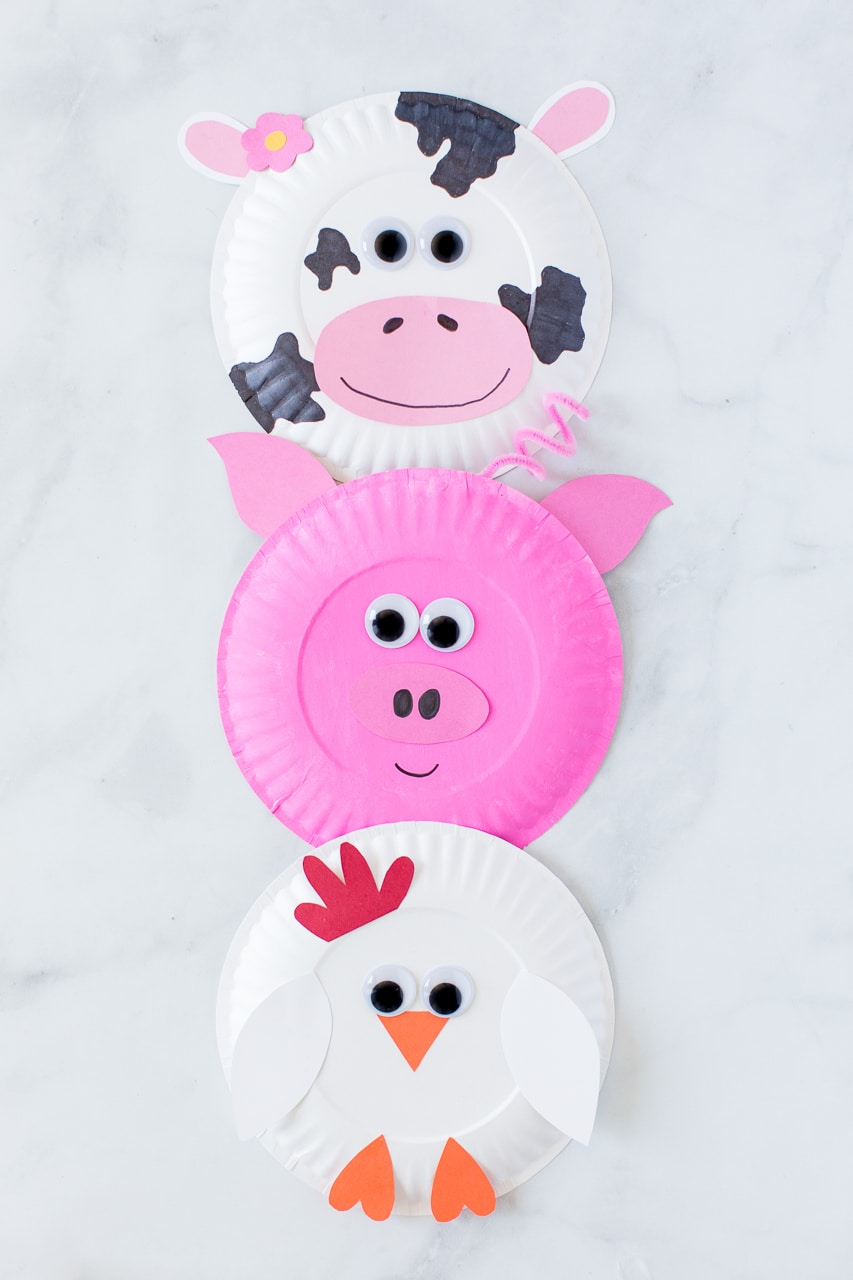 Doing crafts with your kids can help develop their coordination, improve visual processing abilities, hone fine motor skills in the smallest kids, and allow children of all ages to express themselv. Paper Plate Farm Animals Made To Be A Momma