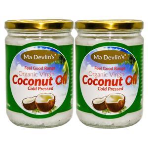 2-Pack - MaDevlins Organic Virgin Coconut Oil 500ml