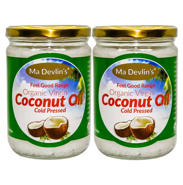 2-Pack - MaDevlins Organic Virgin Coconut Oil 500ml