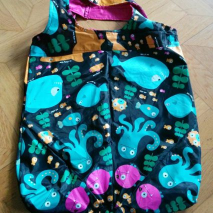 Tasche mit fröhlichem Meeresgetier von Martina (ohne Blog)