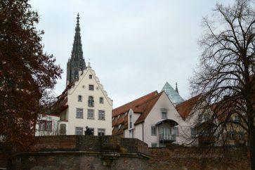 Blick auf die mittelalterliche Altstadt von Ulm