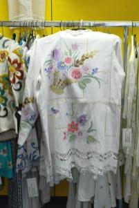 Jacke aus Kreuzstich-Decke