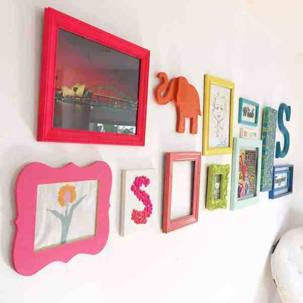 Rainbow Gallery Wall