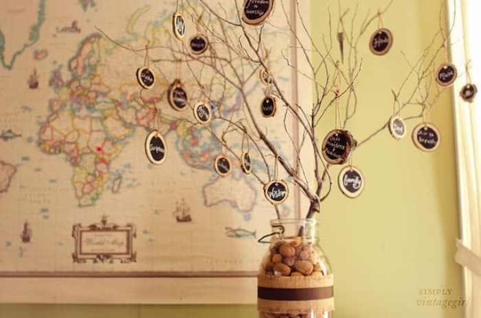 Thankful Tree - Simply Vintage Girl | 15 DIY Fall Crafts | www.madewithHAPPY.com