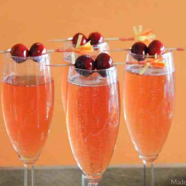 Cranberry Watermelon Champagne Cocktail