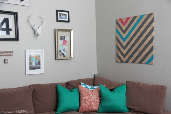 DIY Wall Art | Create your own large art piece for less than $20 | Large Art Pieces for Cheap | www.madewithHAPPY.com
