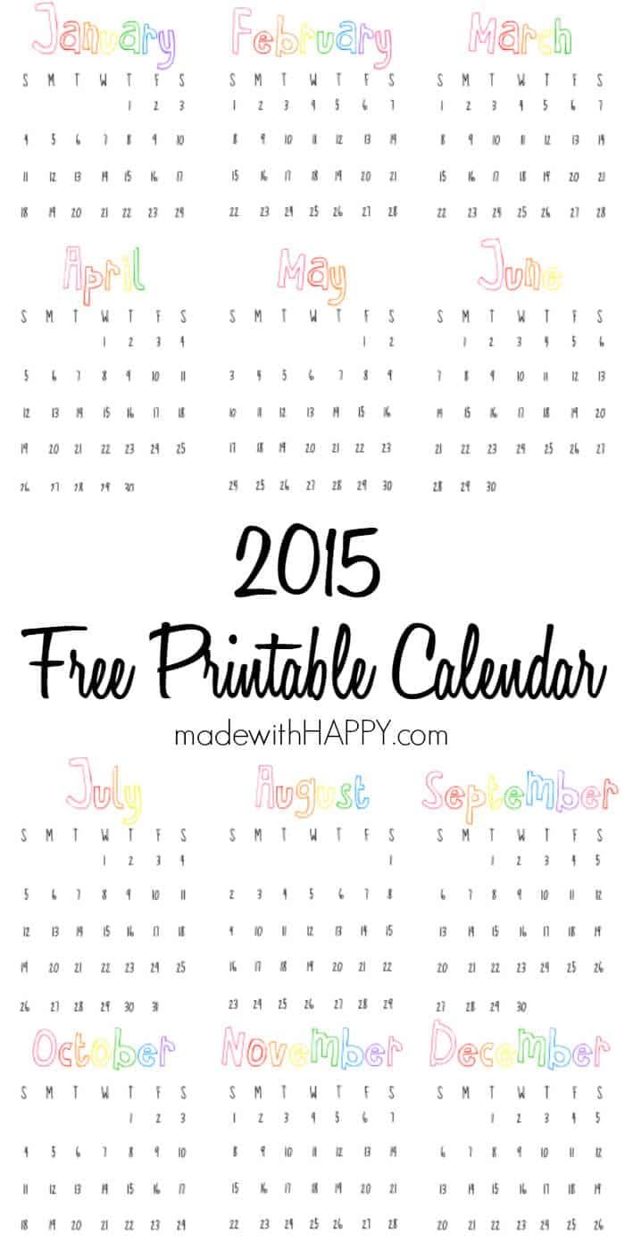 Free-printable-calendar-2015