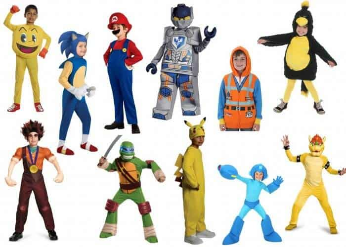 10+ Fun Halloween Costumes for Boys | Boy Video Game Costumes | Boy Character Halloween Costumes | Lego Costumes | Sonice the Hedgehog Costume | TMNT Costume | Mega Man Costume | Pokemon Costumes | Super Mario Brother Costumes | Wreck it Ralph Costume | Pac Man Costume | Angry Birds Costumes | www.madewithhappy.com