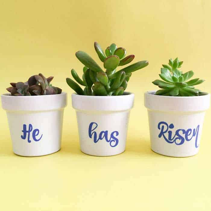 He has Risen Flower Pots
