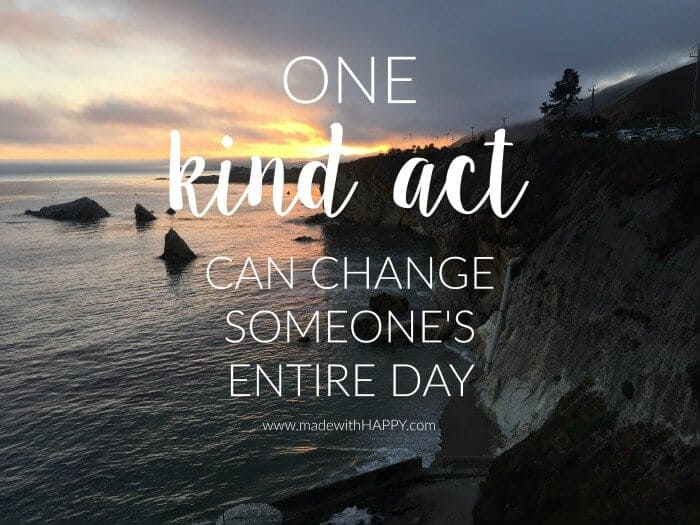 Random Acts of Kindness | Kindness Quote | Kindness Actas | www.madewithhappy.com