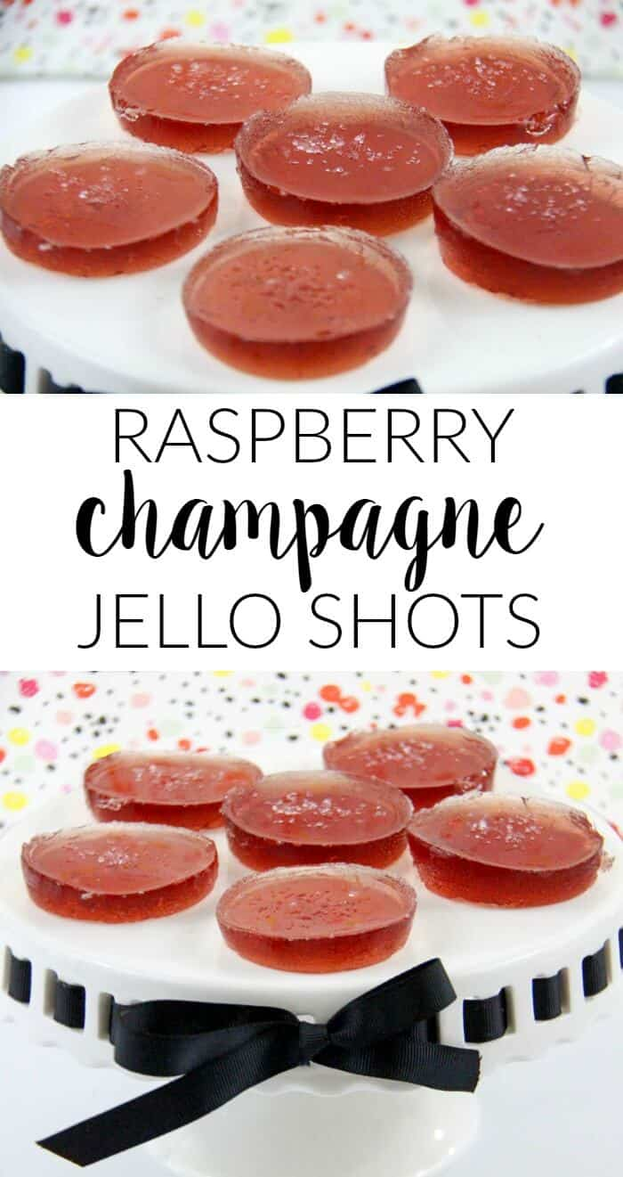 Raspberry Champagne Jello Shots | Holiday Cocktail Recipe | New Years Eve Cocktails | Alcohol Jello Shots | www.madewithhappy.com