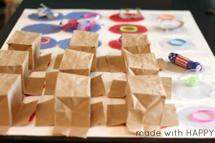 How to make an American Flag Punch Pinata   Great kids party activities and games   Red, white and blue party games   www.madewithHAPPY.com