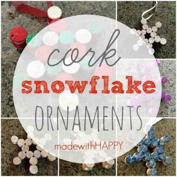 Easy Wine Cork Snowflake Ornaments