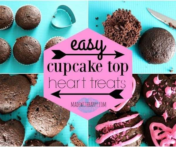 Cupcake Top Heart Treats