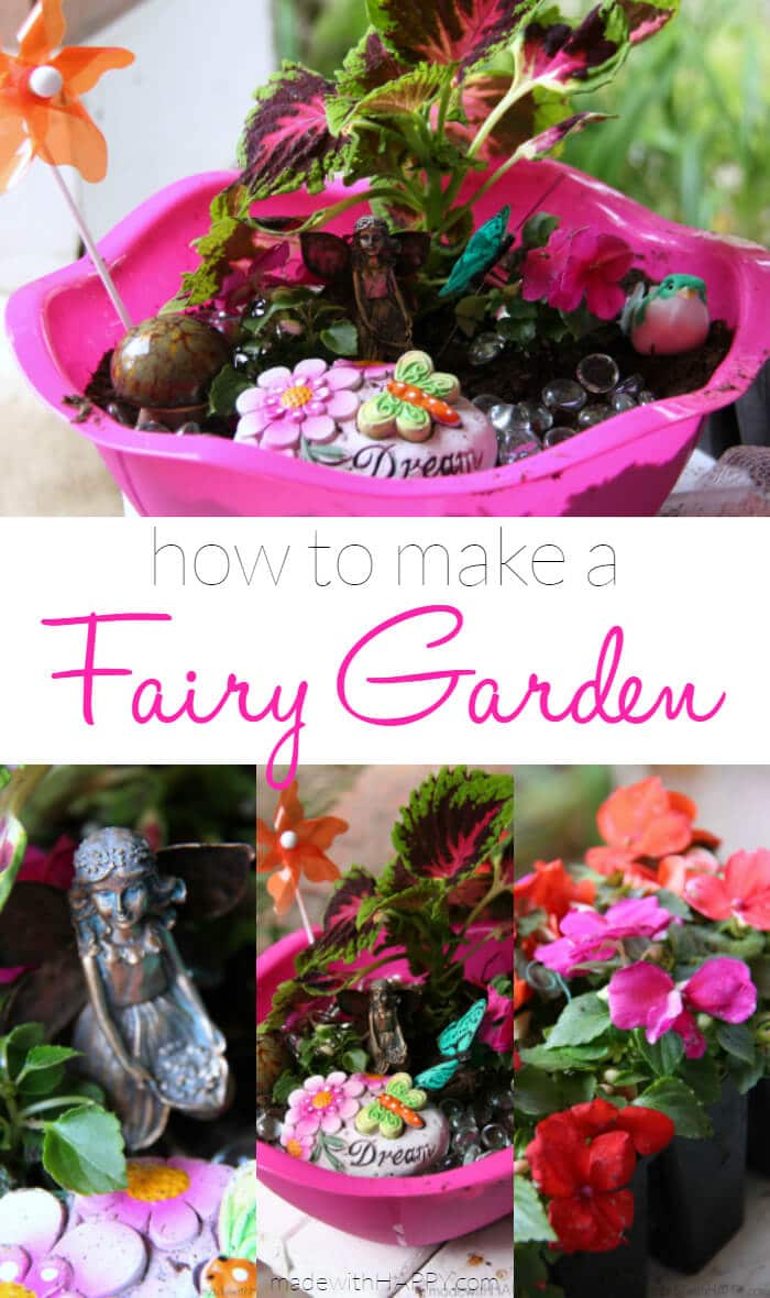 how to make a fairy garden made with happy