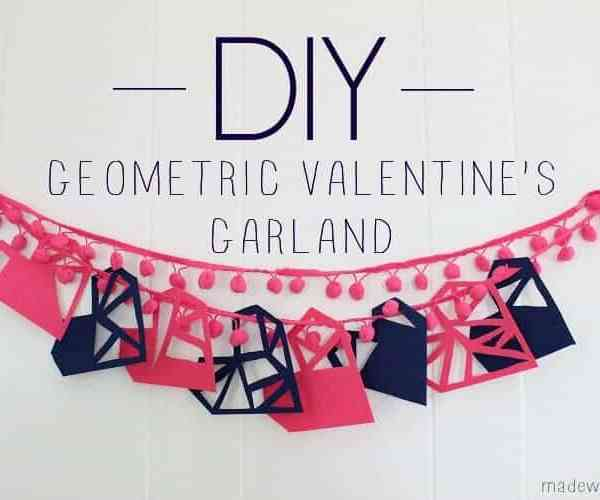 DIY Geometric Valentine's Garland